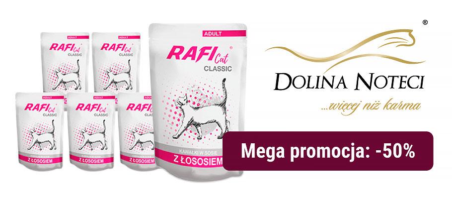 Dolina Noteci Rafi Cat Classic mokra karma dla kota z łososiem saszetka